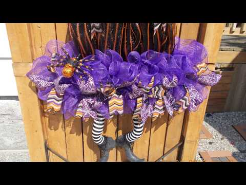 DIY Halloween Witch's Hat With Spider And Five Foot Tall