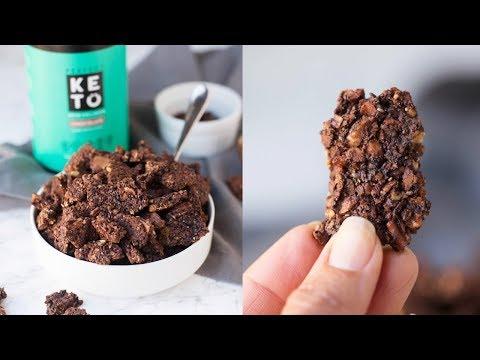 Chunky Chocolate KETO Granola // Perfect Keto Cereal