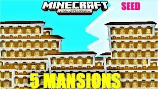 Minecraft woodland mansion with village seed | Daikhlo