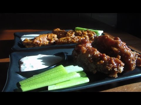 Buffalo/Hot Wings/BBQ Wings and Blue Cheese Dressing-Requested Video