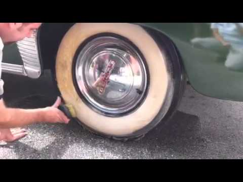 Whitewall tire cleaning '49 Dodge