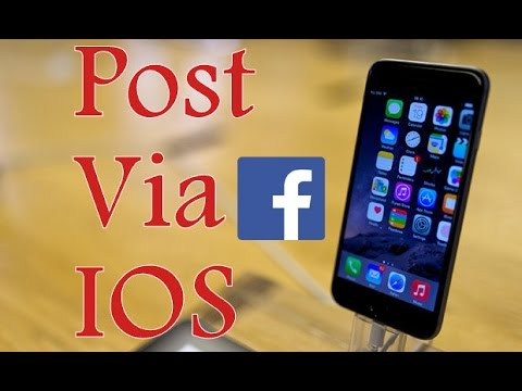 how to post to Ur Facebook and make it say via IOS