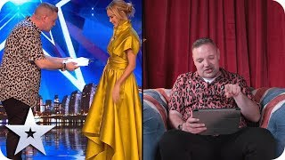 Graeme Mathews reacts to his first audition! | Acts React | Britain's Got Talent