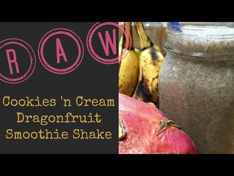 MAKE IT RAW:  Cookies 'n Cream Dragon Fruit Smoothie