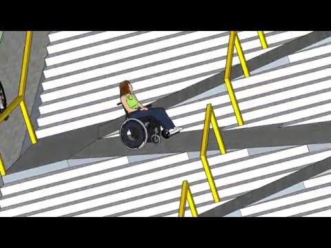 SKETCHUP - Wheelchair Ramp Stair Hybrid