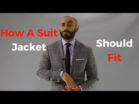 How A Suit Jacket Should Fit