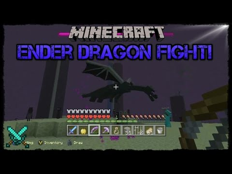 Minecraft Xbox One! Ender Dragon Fight! [Hard Difficulty, With lepu19!]