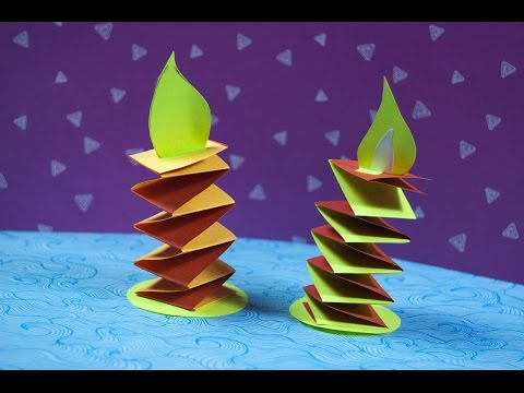 🎁How to make a paper Christmas decoration | DIY Paper Candle