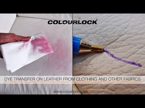 HOW TO REMOVE DYE TRANSFER & INK & BIRO MARKS ON LEATHER