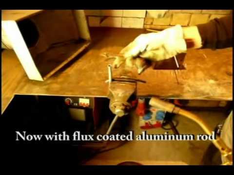 Welding aluminum with copper