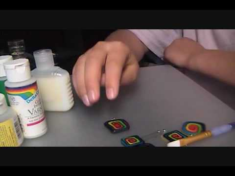 How to gloss your polymer clay jewelry