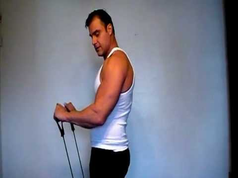 Forearm workout using the resistance exercise bands