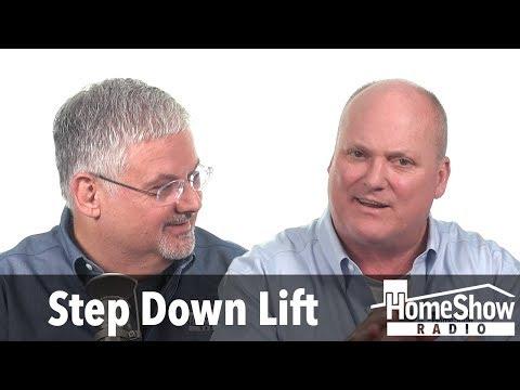 How can I raise a step down living room floor?