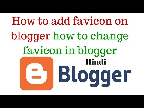 How to add favicon on blogger pages  how to change favicon in blogger  Hindi