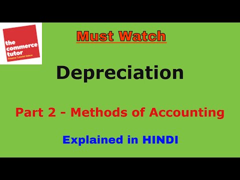 Methods of Accounting for Depreciation in Hindi