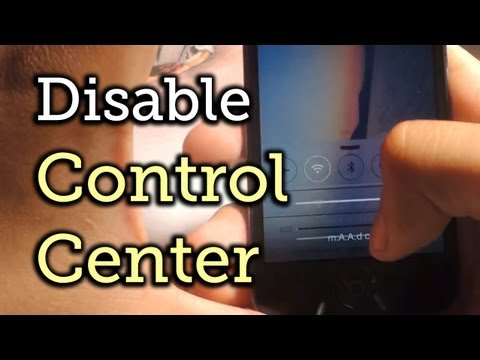 Disable the Control Center in Lock Screen & Applications - iOS 7 [How-To]