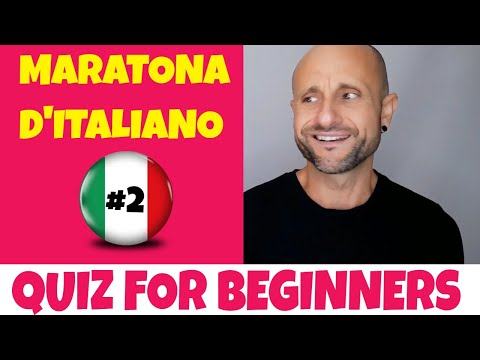 Beginner Italian Quiz: Learn Italian Phrases, Grammar and Comprehension LIVE Marathon (PART 2)