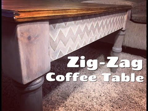 Building a Rustic Coffee Table with Zig Zag Aprons