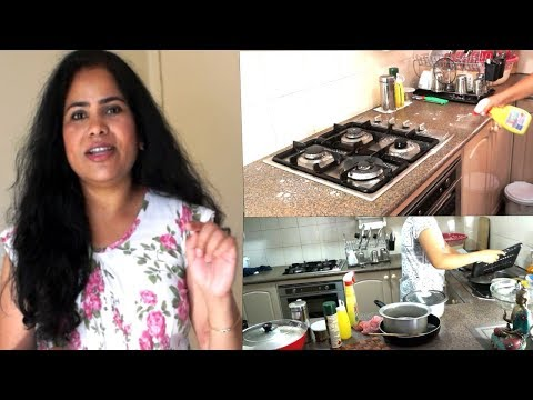 Kitchen Cleaning Routine In Telugu for Bacteria & Germs Free  | kitchen cleaning tips telugu(2018)