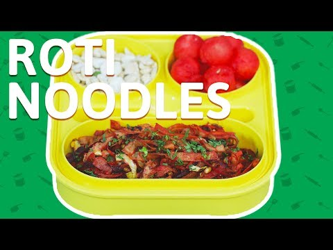Chapati Noodles Recipe - How To Make Roti Noodles - Vegetable Noodles For Kids Tiffin Box