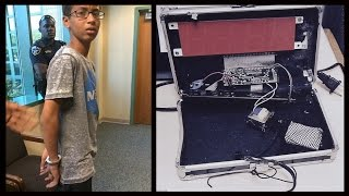 """Muslim Kid Arrested For His """"Invention""""... A Suitcase Clock"""