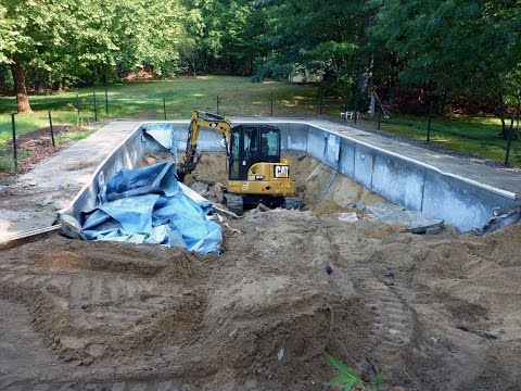 In Ground Swimming Pool Demolition Time Lapse