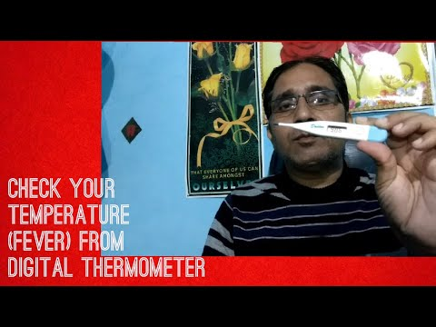 Check your Temperature (Fever) from Digital Thermometer  Link for buy in description
