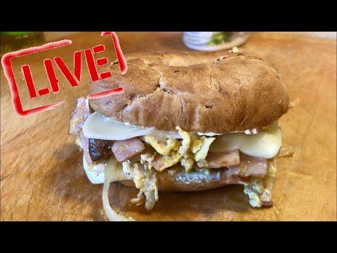#GoodMorning 65 -  Breakfast Menu: Scrambled Egg Bagel Sandwich With Cheese