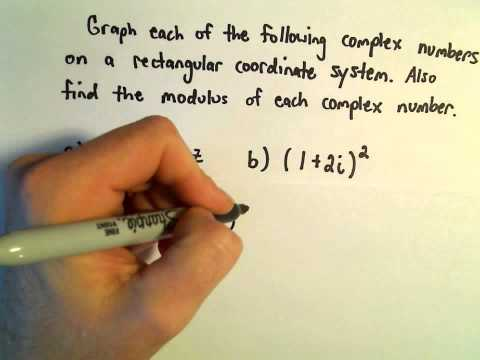Complex Numbers: Graphing and Finding the Modulus, Ex 1