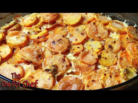 Savory Sweet Potato Gratin | One Pot Chef