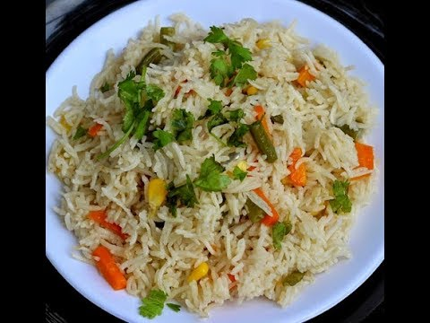How to cook/make Rice Pulao in Microwave in Hindi