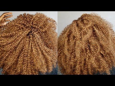 WATCH ME DO CROCHET BRAIDS WITH CHEAP BLONDE  HAIR UNDER $11