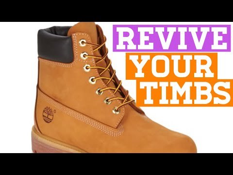 How to clean an original Timberland boot with pencil Eraser.