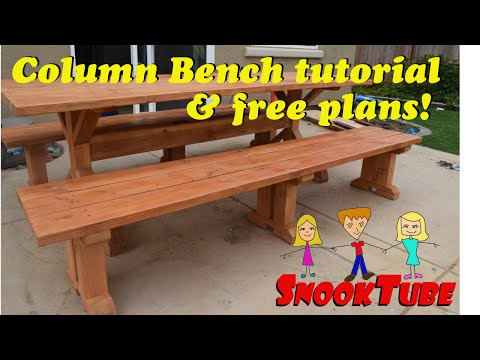 Simple Column Bench Tutorial with Free plans!