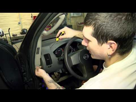 Removing the instrument cluster in a Nissan Xterra