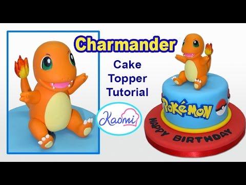 Pokemon: Charmander Cake Topper / Cómo hacer a Charmander para tortas