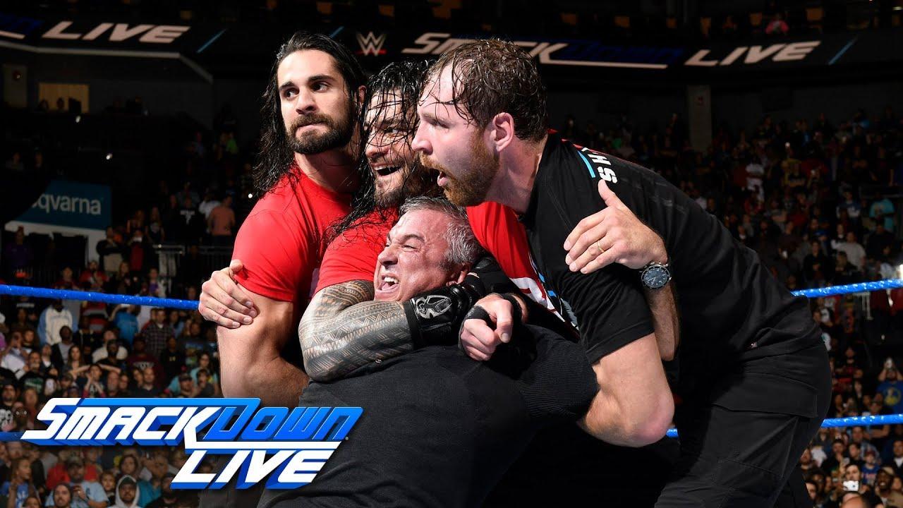 Kurt Angle & The Shield lead a Raw raid of SmackDown: SmackDown LIVE, Nov. 14, 2017