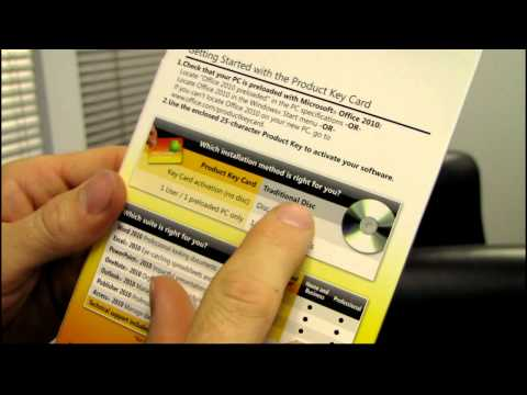 Microsoft Office PKC Product Key Card Unboxing & First Look Linus Tech Tips