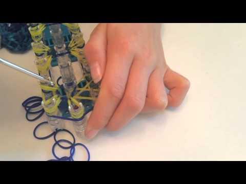 How to Make a Rainbow Loom Diamond Starburst Bracelet