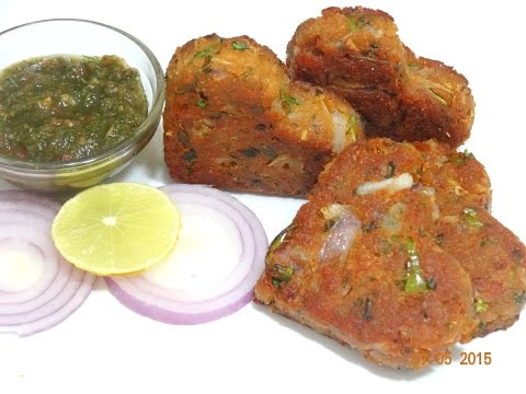 Soya Chunks Kebab-Soya Cutlet-Healthy Soya Kabab-Vegetable Kebab Recipe