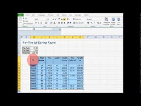 Cool Excel Formulae: Dynamic Table Headers