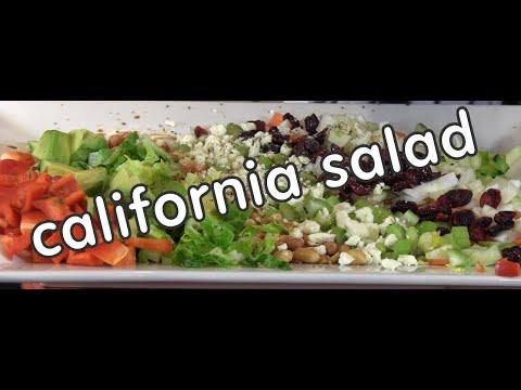 California Salad Recipe with Avocados and Almonds