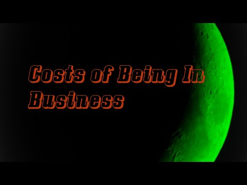Costs of Being In Business part 1