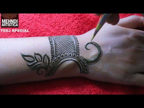 Beautiful Mehndi Tattoo Design Heena Mehndi Designs