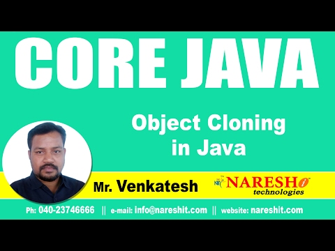 Object Cloning in Java with Example Program   Core Java Tutorial