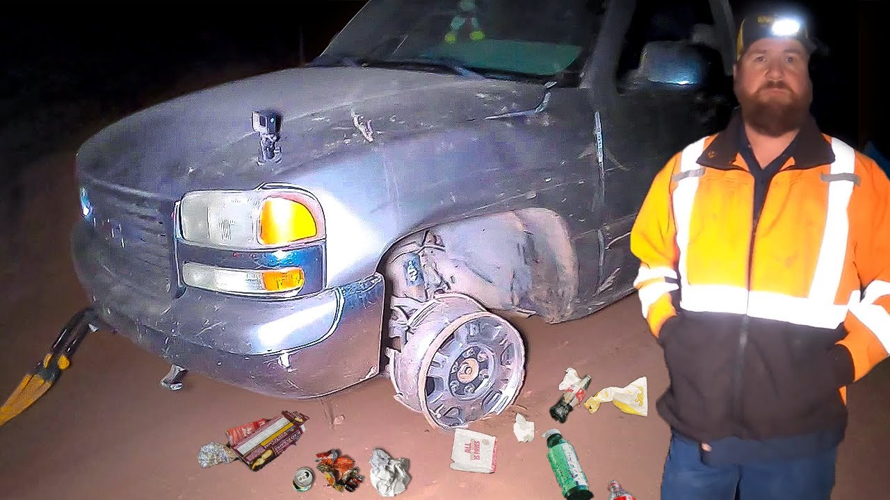 Car Thief Destroys GMC Sierra, Extremely Difficult Rescue!