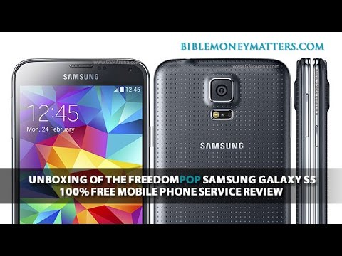 Unboxing Of The FreedomPop Samsung Galaxy S5  - 100% Free Mobile Phone Service Review