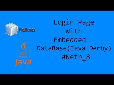Login Page with embedded Database (Java Derby) #Netb_8