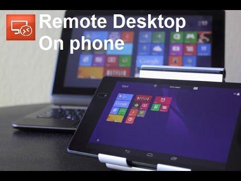 Use Laptop/PC On Phone : Remote Desktop