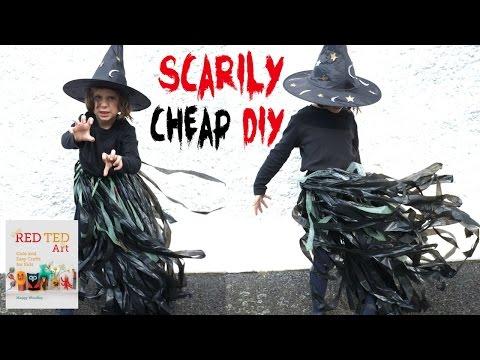 Halloween Crafts   Last Minute Halloween Costume   No Sew Witch's Tutu